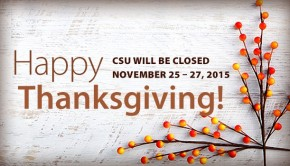 Closure Notice for Thanksgiving